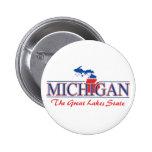Botones patrióticos de Michigan Pin