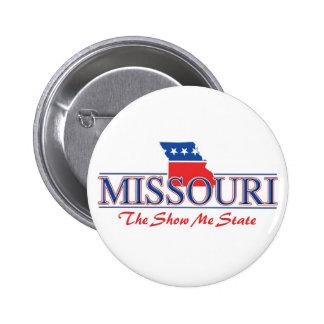 Botones patrióticos de Missouri Pin Redondo De 2 Pulgadas