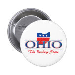 Botones patrióticos de Ohio Pin