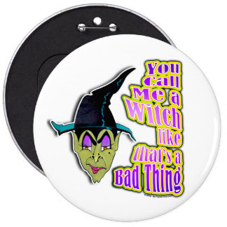 Botones pernos - bruja de Halloween Pin