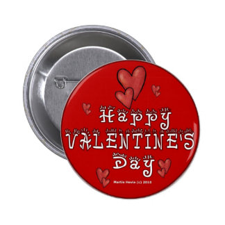 Botones/pernos del el día de San Valentín (1) Pin Redondo De 2 Pulgadas