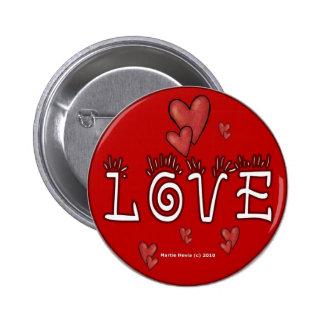Botones/pernos del el día de San Valentín (4) Pin Redondo De 2 Pulgadas