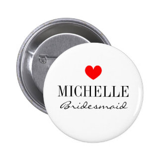 Botones personalizados de la dama de honor para el
