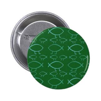 Botones Pin-Detrás de los pescados de Darwin (verd