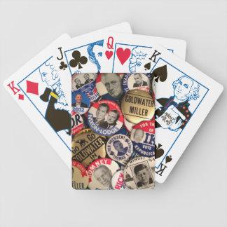 Botones políticos cartas de juego