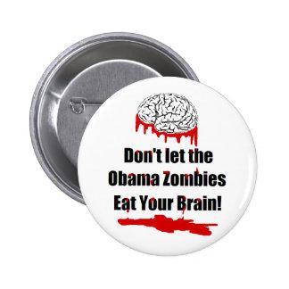Botones políticos del zombi anti de Obama