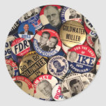 Botones políticos etiquetas redondas