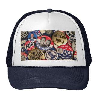 Botones políticos gorras de camionero