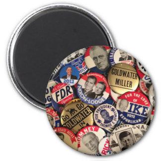 Botones políticos imán redondo 5 cm
