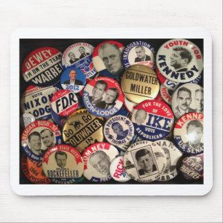 Botones políticos mouse pads