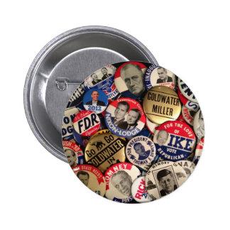 Botones políticos pin redondo de 2 pulgadas