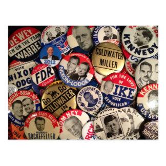 Botones políticos postales
