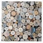 - Botones - porciones de costura de botones blanco Azulejos