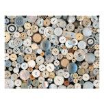 - Botones - porciones de costura de botones blanco Tarjetón
