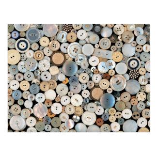 - Botones - porciones de costura de botones Tarjeta Postal
