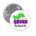 Botones púrpuras y verdes del día del St. Urho Pin