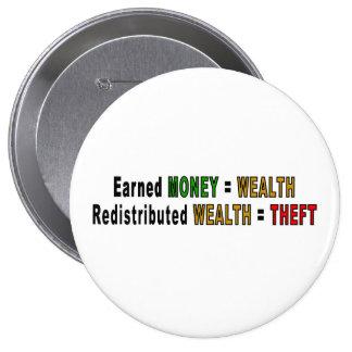 Botones redistribuidos de la riqueza pins
