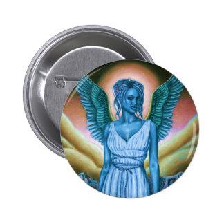 Botones redondos azules del ángel de guarda