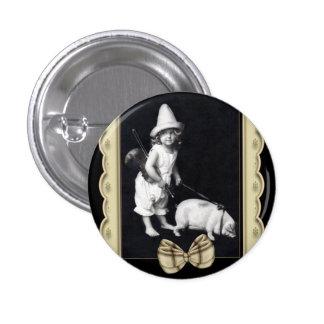 Botones redondos guarros y de I del vintage de la  Pin Redondo De 1 Pulgada