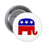 Botones republicanos del elefante pin