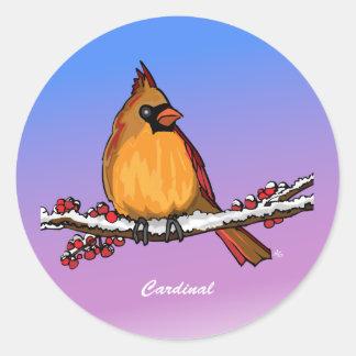 Botones rev.2.0 y instinto cardinales pegatina redonda