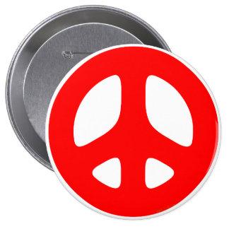 Botones rojos del signo de la paz pins