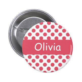 Botones rosados conocidos personalizados de pin redondo de 2 pulgadas