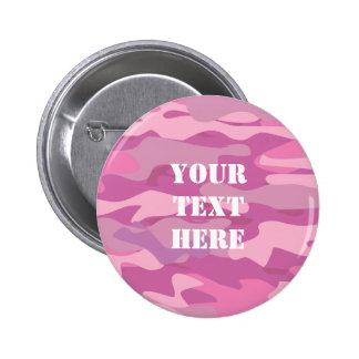 Botones rosados de la insignia conocida del color pin redondo de 2 pulgadas