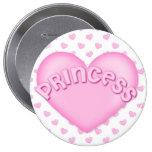 Botones rosados de princesa Heart Backpack Pins