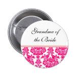 botones rosados del boda del damasco pins