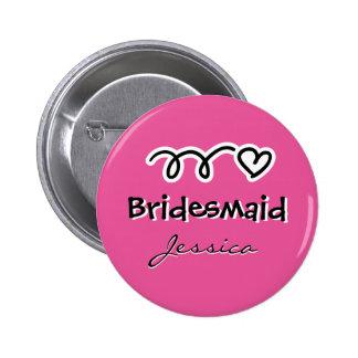 Botones rosados personalizados de la insignia de