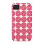 Botones texturizados disco rosado bonito de los cí vibe iPhone 4 carcasa