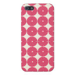 Botones texturizados disco rosado bonito de los cí iPhone 5 fundas