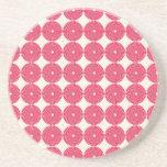 Botones texturizados disco rosado bonito de los cí posavasos personalizados