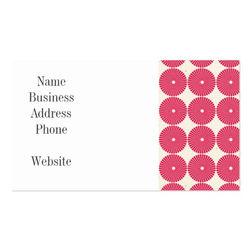 Botones texturizados disco rosado bonito de los cí tarjetas personales