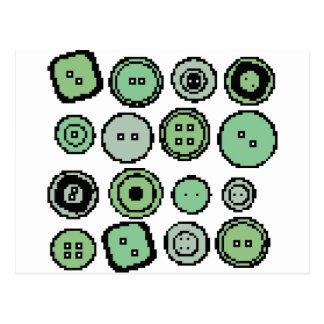 botones verdes postal