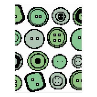 botones verdes tarjetas postales