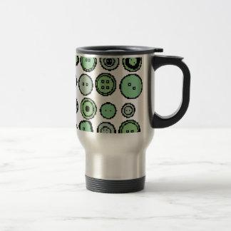 botones verdes taza de viaje