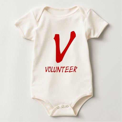 Botones voluntarios del camiseta, voluntarios y enteritos