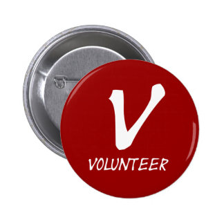 Botones voluntarios del camiseta, voluntarios y má