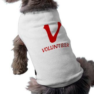 Botones voluntarios del camiseta, voluntarios y má ropa perro