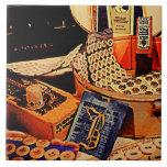 Botones y broches azulejos