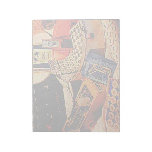 Botones y broches bloc de papel