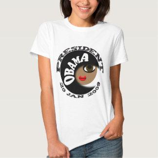 ¡Botones y camisetas de la inauguración de Obama! Remera