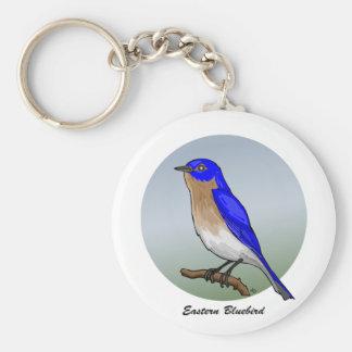 Botones y instinto del este del Bluebird rev.2.0 Llavero Redondo Tipo Pin