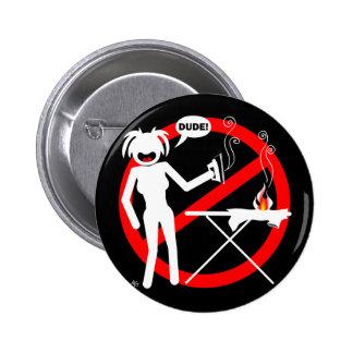 Botones y llaveros del peligro que planchan