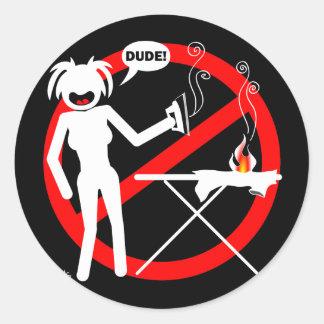 Botones y llaveros del peligro que planchan pegatina redonda