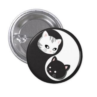 Botones y Ninji de YinYang Pin Redondo De 1 Pulgada