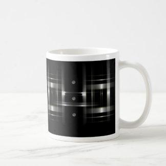 Botones y taza de la tela escocesa