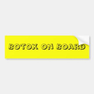 Botox a bordo pegatina para auto